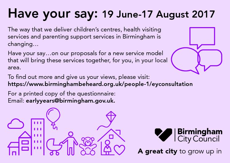 Early Years Health and Wellbeing Service Public Consultation